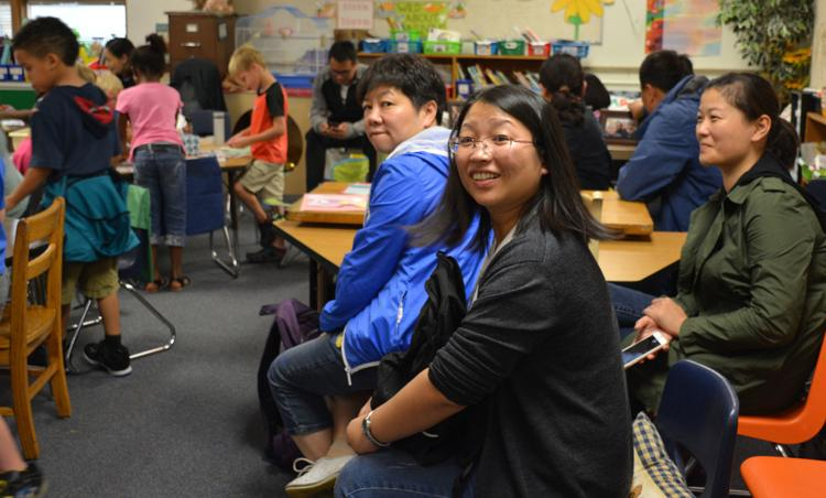 image of Chinese educators in Tomah classroom